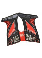 Hybrid DM Ultralite Paintball Grips - East Coast Killers - Red