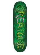 Creature Team Gang Sign Power Ply - Green - 8.6in x 32.35in - Skateboard Deck