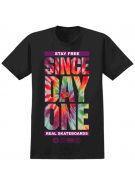 Real Since Day One Tie Dye Print - Black - T-Shirt