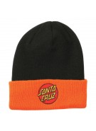 Santa Cruz Classic Dot Long Shoreman - One Size Fits All - Black/Orange - Men's Beanie