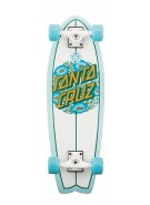 Santa Cruz Poppy Dot Shark Cruzer - 8.8in x 27.7in - Complete Skateboard