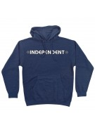 Independent Bar/Cross Pullover Hooded L/S - Navy Heather - Men's Sweatshirt