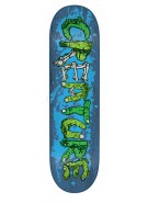 Creature Team Gang Sign Power Ply - Blue - 8.8in x 32.5in - Skateboard Deck
