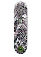 Creature Hitz Ritual 3D Powerply - Grey - 8.5in x 32.25in - Skateboard Deck