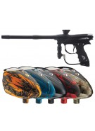 2012 Proto Reflex Rail Paintball Gun w/ Rotor Loader - Black/Black Dust
