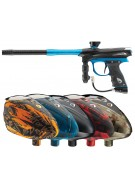 2012 Proto Reflex Rail Paintball Gun w/ Rotor Loader - Black/Teal Dust