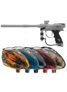2012 Proto Reflex Rail Paintball Gun w/ Rotor Loader - Grey/Grey Dust