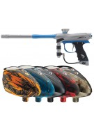 2012 Proto Reflex Rail Paintball Gun w/ Rotor Loader - Grey/Teal Dust