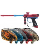 2012 Proto Reflex Rail Paintball Gun w/ Rotor Loader - Red/Teal Dust