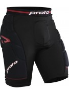 Proto Defender Padded Slide Shorts - Black/Red