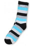 Enjoi Full Stripe Sock - Cyan - Mens Socks