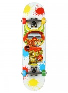 Speed Demons Paint Baller Mid - White/Multi - 7.3 - Youth Complete Skateboard