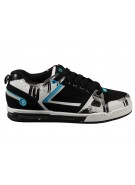 Globe Blackjack - Black/White/Cyan - Mens Skate Shoes