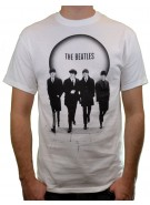 The Beatles Band White Circle Group Photo - White - Band T-Shirt