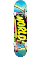 World Industries Ka Pow - Blue/Yellow - 8.1 - Complete Skateboard