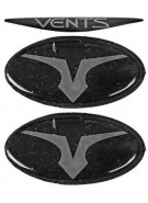 Empire Vents Mask Logo Set & Retainers - Silver