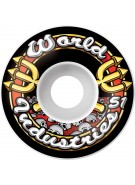 World Industries Skull Team Logo 51mm Wheels, Set of 4 - Skateboard Wheels