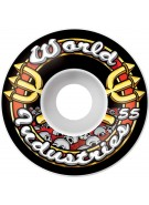 World Industries Skull Team Logo 55mm Wheels, Set of 4 - Skateboard Wheels