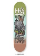 Habitat Terrene DG - Green/Brown/Grey - 8.125 - Skateboard Deck