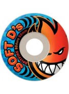 Spitfire Wheels Soft D's - 92du - White - 56mm - Skateboard Wheels