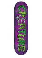 Creature Team Gang Sign Power Ply - Purple - 8.375in x 32in - Skateboard Deck
