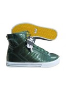 Supra Muska Skytops Dark Green Patent - Men's Shoes Green - Size 12