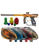DYE NT11 Paintball Gun w/ Rotor Loader - PGA Hyp Orange/Brown