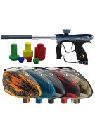 DYE NT11 Paintball Gun w/ Rotor Loader - PGA Hyp Navy/Clear