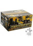 WPN Weapons Grade Paintballs Case 1000 Rounds - White Shell - White Fill