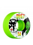 Bones STF Pro Dyet Rasta - 54mm - Green - Skateboard Wheels