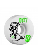 Bones STF Pro Dyet Numbers - 52mm - White - Skateboard Wheels