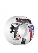 Bones Ben Raybourn Pride - 51mm - 83B - White - Skateboard Wheels