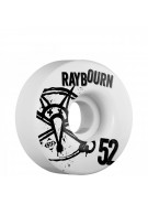 Bones STF Pro Raybourn Numbers - 52mm - White - Skateboard Wheels
