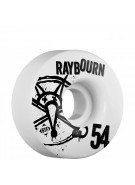 Bones STF Pro Raybourn Numbers - 54mm - White - Skateboard Wheels
