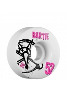 Bones STF Pro Bartie Numbers - 52mm - White - Skateboard Wheels