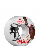 Bones Street Tech Formula Haslam Caveman - 52mm - White - Skateboard Wheels