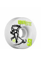 Bones STF Pro Gravette Numbers - 51mm - White - Skateboard Wheels