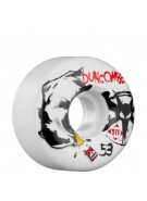 Bones Street Tech Formula Duncombe Badger - 53mm - White - Skateboard Wheels