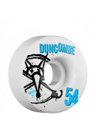 Bones STF Pro Duncombe Numbers - 54mm - White - Skateboard Wheels