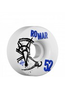 Bones STF Pro Romar Numbers - 52mm - White - Skateboard Wheels
