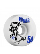 Bones STF Pro Romar Numbers - 54mm - White - Skateboard Wheels