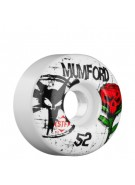 Bones Street Tech Formula Mumford Tuff Love - 52mm - White - Skateboard Wheels
