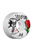 Bones Street Tech Formula Mumford Tuff Love - 54mm - White - Skateboard Wheels