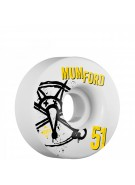 Bones STF Pro Mumford Numbers - 51mm - White - Skateboard Wheels