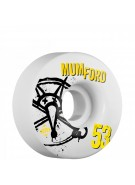 Bones STF Pro Mumford Numbers - 53mm - White - Skateboard Wheels