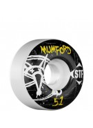 Bones Street Tech Formula Mumford Oh Gee - 51mm - White - Skateboard Wheels