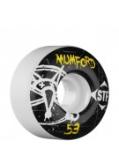 Bones Street Tech Formula Mumford Oh Gee - 53mm - White - Skateboard Wheels