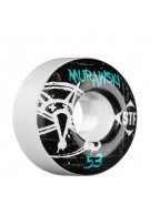Bones Street Tech Formula Murawski Oh Gee - 53mm White - Skateboard Wheels