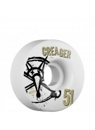Bones STF Pro Creager Numbers - 51mm - White - Skateboard Wheels