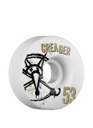 Bones STF Pro Creager Numbers - 53mm - White - Skateboard Wheels